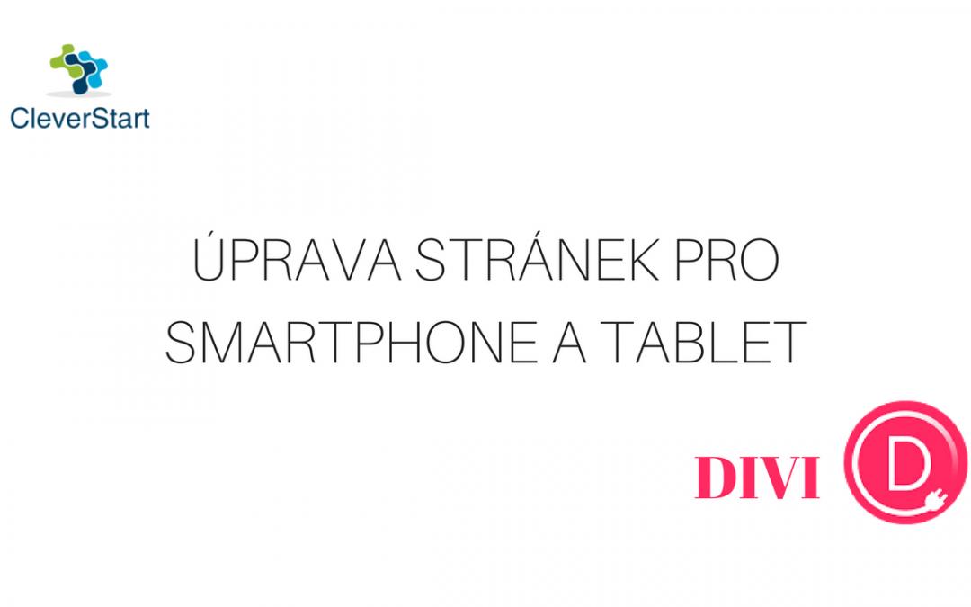 Úprava stránky pro mobil a tablet